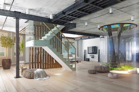 Elegante Treppe für Ihr Apartment