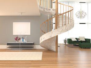 Wendeltreppe für modernes Apartment