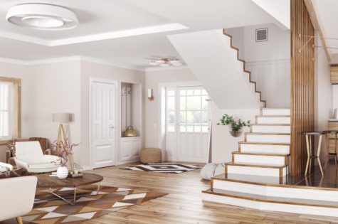 Moderne Treppe in Apartment